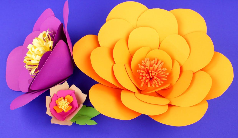 Видео бумажные цветы своими руками мастер класс