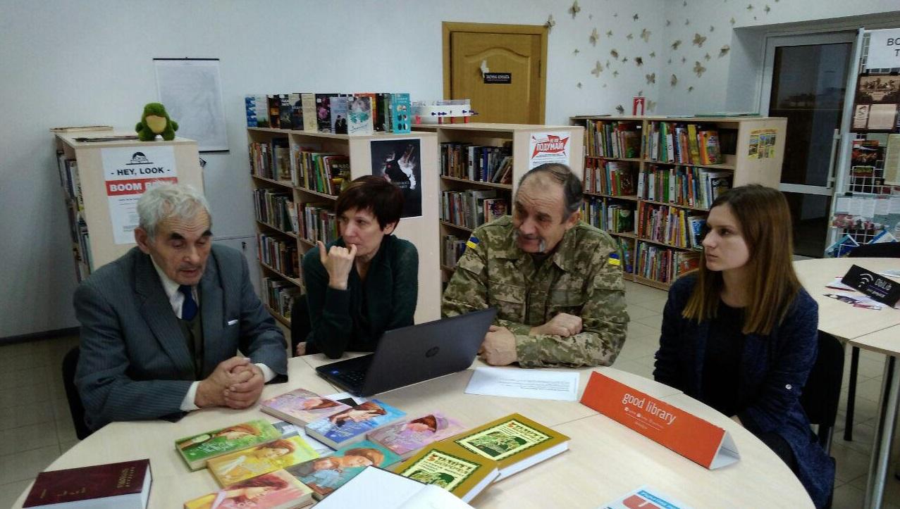 В новом помещении библиотеки Горького в Старобельске