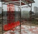 В городе появился новый вид павильона ожидания с приятным дизайном