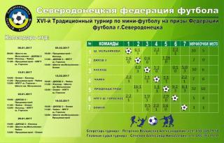 16й Традиционный турнир по мини-футболу на призы Федерации футбола г.Северодонецка