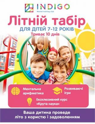 Набор в летний интеллектуальный городской лагерь и на летний интенсив по ментальной арифметике для детей