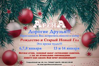 """Рождество и Старый Новый год в """"Арене"""""""