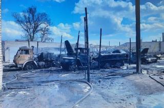 В Рубежном горели 4 бензовоза, - штаб ООС