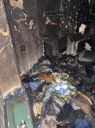 Сталася пожежа в одній з багатоповерхівок Сєвєродонецька