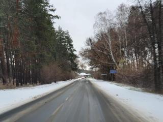 Перший сніг на Луганщині. Дорожники були готові