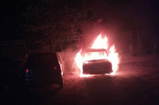 По ул. Науки  сгорел автомобиль