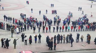 Школьники Северодонецка провели флешмоб