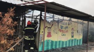 В Северодонецке ликвидировали пожар на территории городского парка
