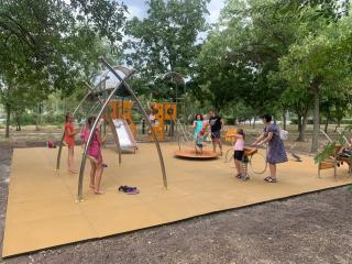Новий дитячий майданчик встановлено на площі Перемоги