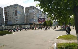 В Лисичанске перекрыли центральную улицу