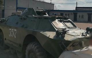В Лисичанске нашли брошенную сепаратистами бронемашину