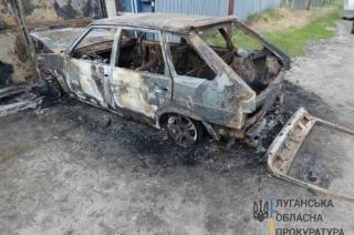 В Северодонецком районе сожгли автомобиль военнослужащего