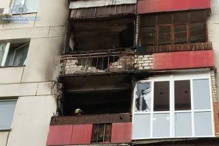 Пожар в Северодонецке: сгорела квартира и балконы