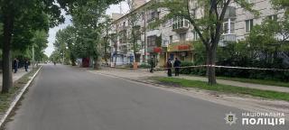 Неизвестные установили растяжку на улице в центре Северодонецка