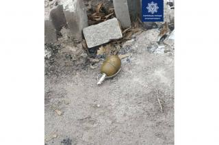 В Северодонецке женщина нашла в мусорном баке гранату