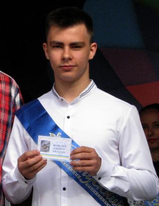Удостоверение Мастера Спорта Украины по кикбоксингу ИСКА вручено Илье Косаренко