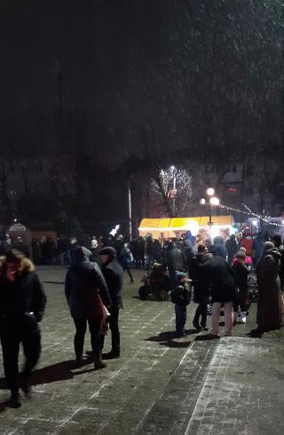 Кілька сотень сєвєродончан зустрічали Новий рік у казковому містечку біля МПК
