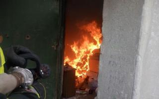 В одной из многоэтажек Северодонецка горел мусоросборник