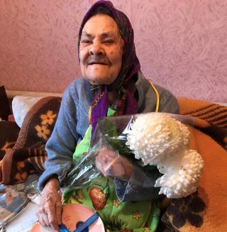 Северодонецкая долгожительница Нина Васильевна Падалка