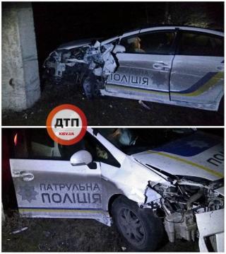 В Северодонецке автомобиль полиции попал в ДТП