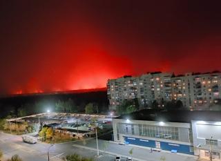 Фото- и видеорепортажи с пожара возле Северодонецка