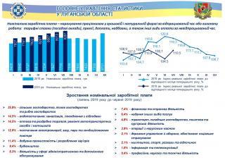 Заробітна плата у Луганській області у липні 2019 року (інфографіка)